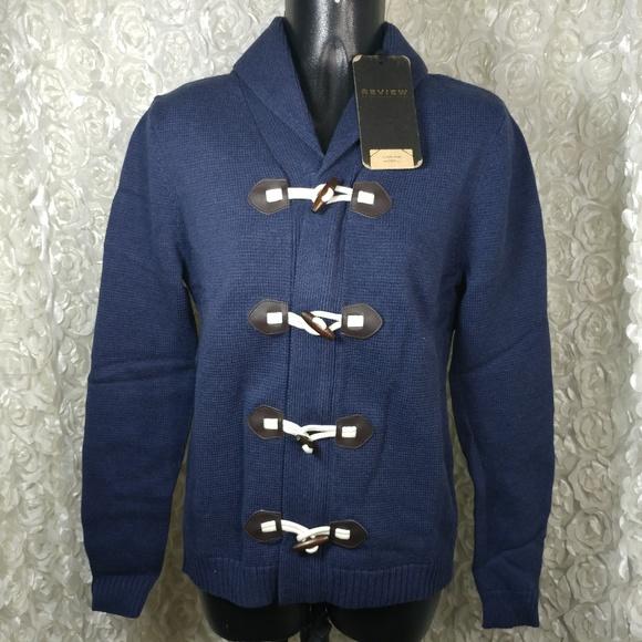 Peek & Cloppenburg XS navy blue duffel cardigan Boutique